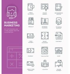 modern line icon design concept business market vector image