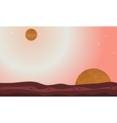 Nature on another planet landscape vector