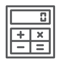 online calculator line icon finance and banking vector image