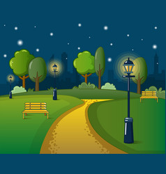 park concept cartoon style vector image