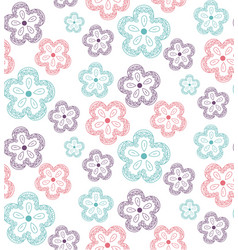 pattern flowers ornate2 vector image