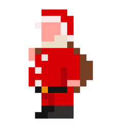 pixel santa claus - isolated vector image