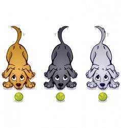 Playful pups vector