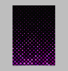 purple circle pattern brochure background vector image