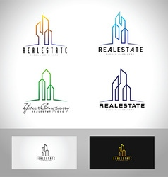 realestate building vector image