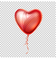 realistic heart shape red balloon love vector image