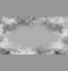 realistic smoke frame on transparent background vector image