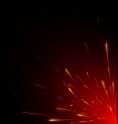 red color fire flying vector image