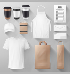 Restaurant and cafe corporate identity template vector