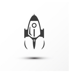 rocket launch icon business startup symbol vector image