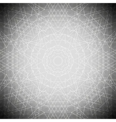 Sacred geometry triangle design gray background vector