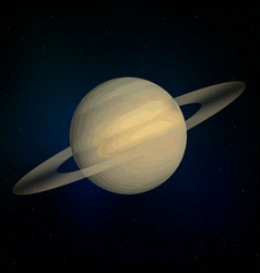 saturn realistic planet vector image