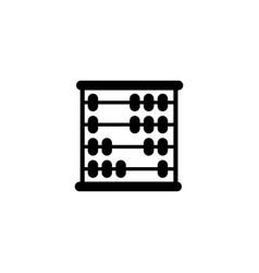 school mathematics abacus flat icon vector image