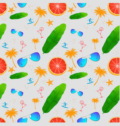Seamless pattern with exotic tropical flower vector