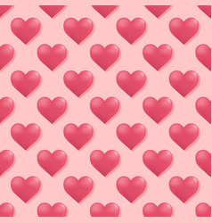 seamless pattern with hearts hearts background vector image