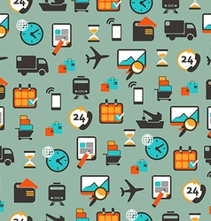 Seamless pattern with logistics equipment vector image