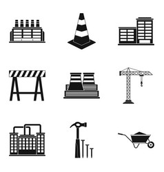 Sector icons set simple style vector