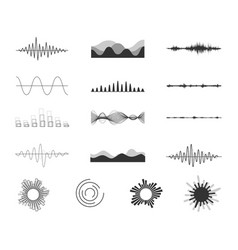 Set of audio scales vector