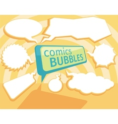 Set of comic bubbles vector