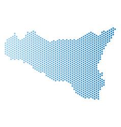 Sicilia map hex-tile scheme vector