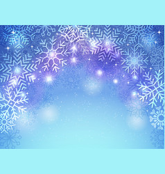 snowflakes background holiday christmas greeting vector image