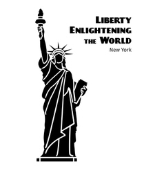 Statue of Liberty black isolated silhouette vector image