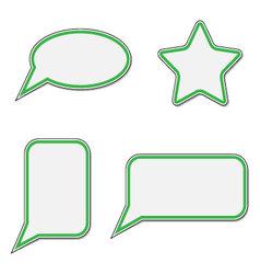 Sticker speech bubble set vector image