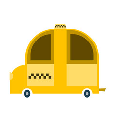 taxi service yellow automobile on white background vector image