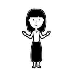 teacher woman vector image