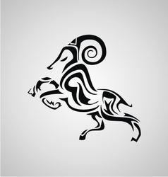 Tribal Aries vector image
