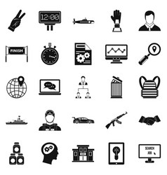 Triumph icons set simple style vector