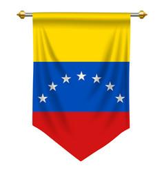 venezuela pennant vector image