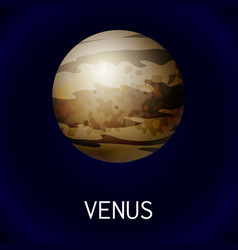 venus planet icon cartoon style vector image