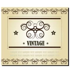 vintage elements vector image