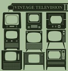 Vintage television II vector image vector image
