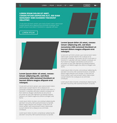 Website layout template vector
