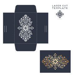 wedding card laser cut template with vector image