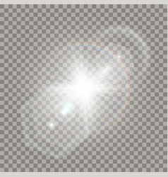 White star explosion with flare effect vector
