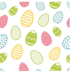 easter egg seamless pattern cupcakes ostern vector image vector image