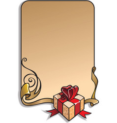 holiday frame vector image vector image
