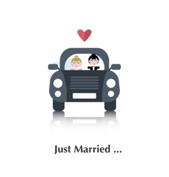Lesbian marriage icon vector image vector image