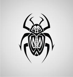 Tribal Beetle vector image vector image