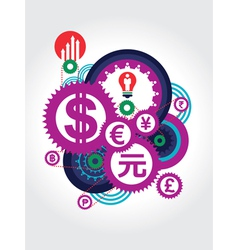 World Currency symbol concept vector image vector image
