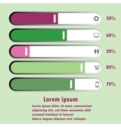 chart For infographic and presentation vector image vector image