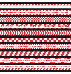danger and warning tape vector image