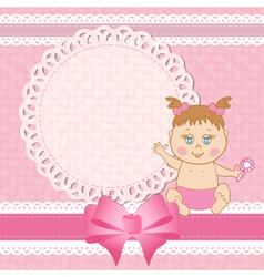 Baby shower birthday card vector image