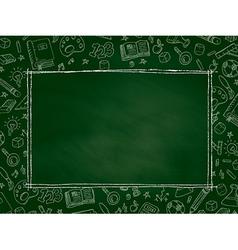 Back to School chalkboard background vector image