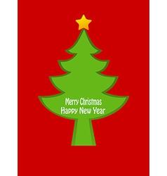 Christmas tree card design vector image