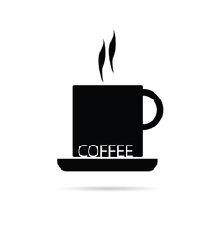 coffee cup black vector image