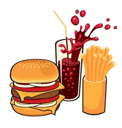fast-food vector image